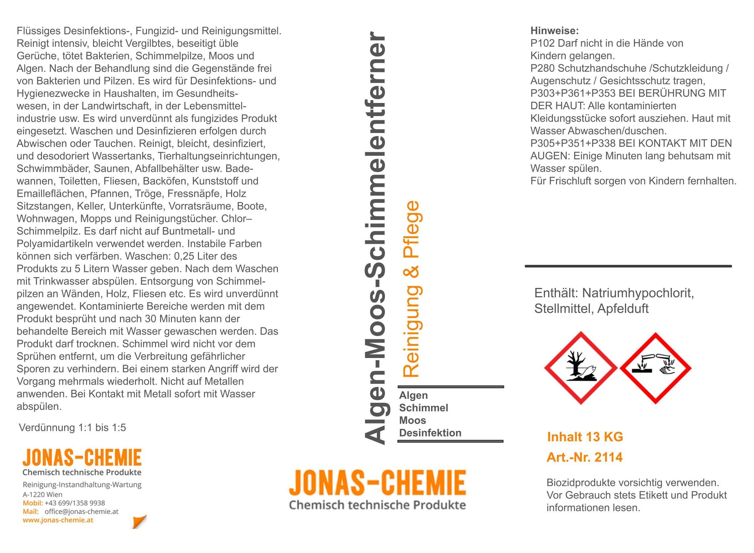 Algen-Moos-Schimmelentferner A5