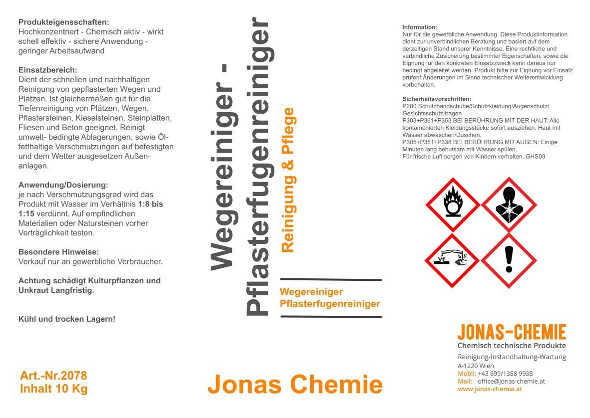 Wege- Pflasterfugenreiniger A5