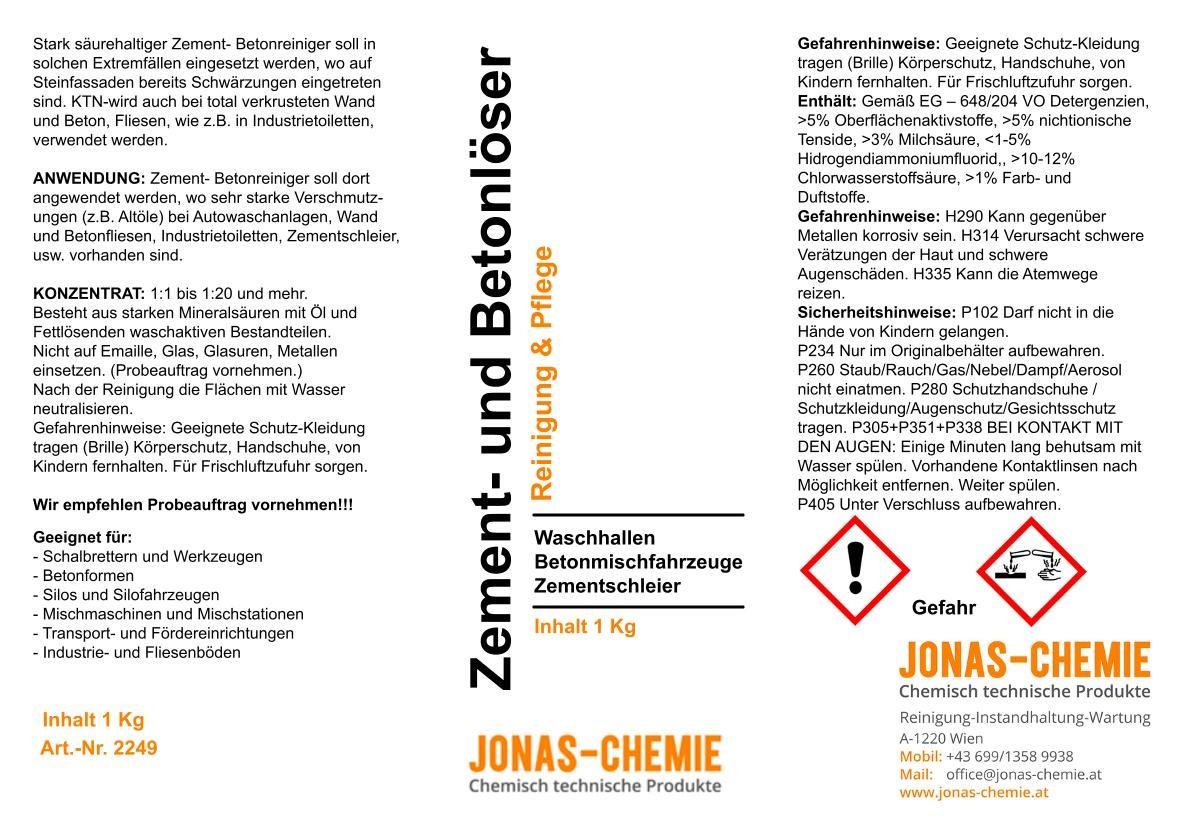 Zement- Betonlöser
